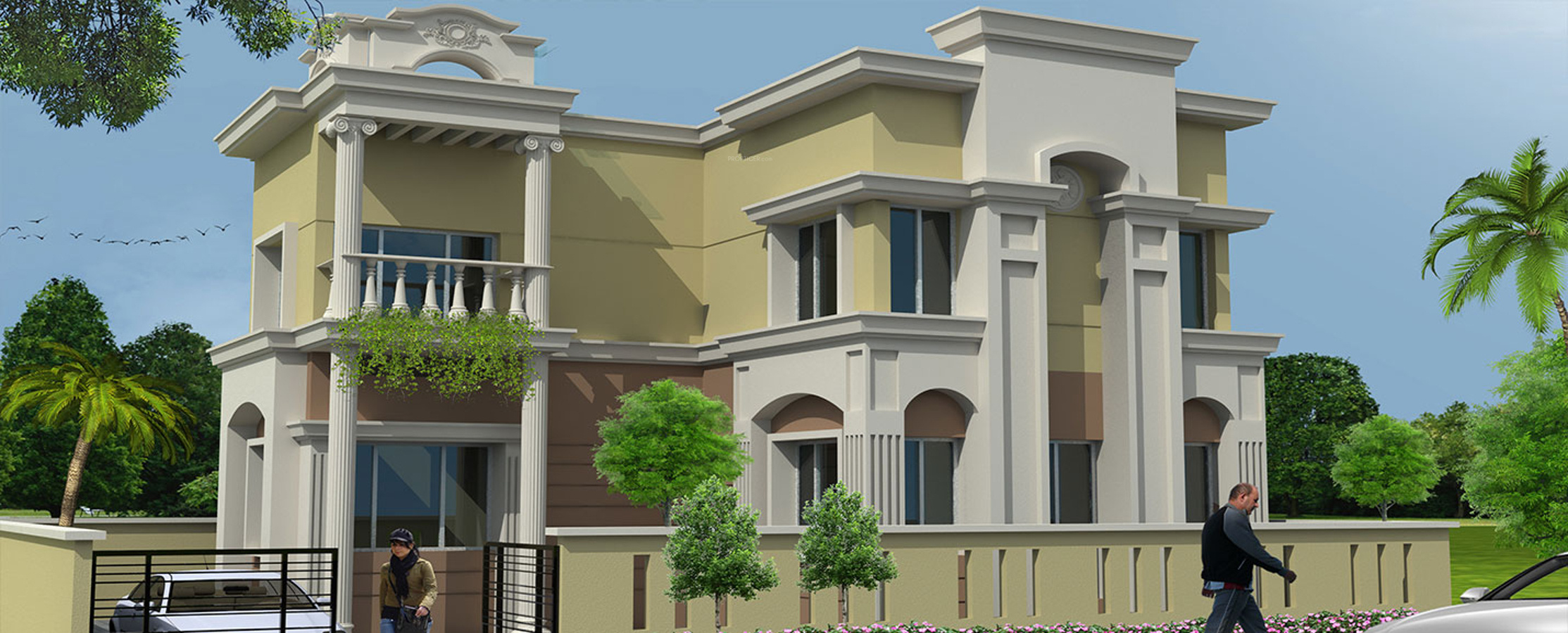 450 sq ft 1 bhk 1t villa for sale in dharitri infraventure for Villa elevation photos
