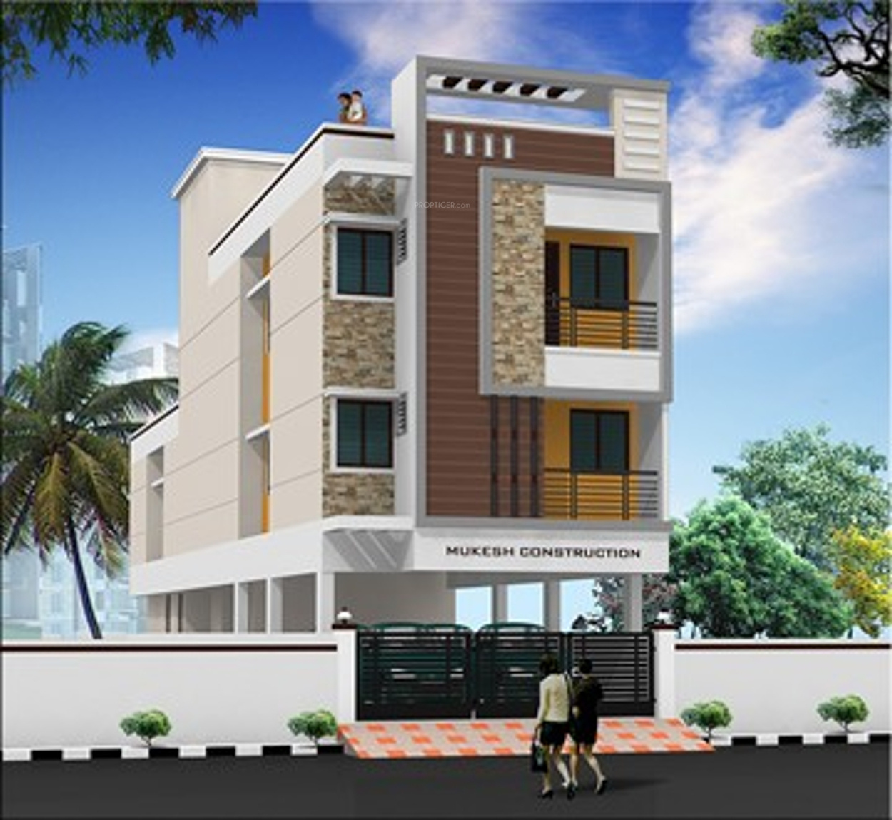 Front Elevation Tiles Chennai : Sq ft bhk t apartment for sale in mugesh om sai