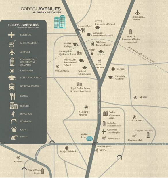 avenues Images for Location Plan of Godrej Avenues