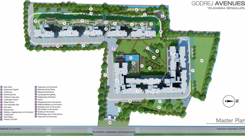 avenues Images for Master Plan of Godrej Avenues