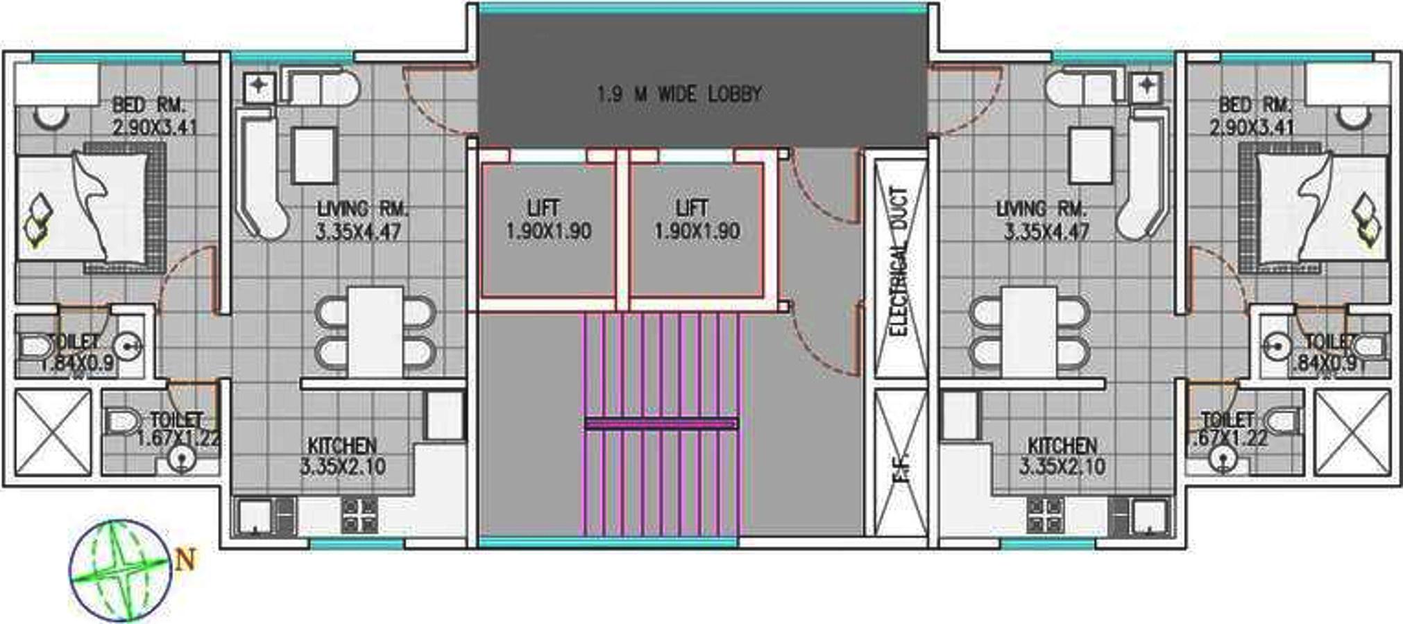 Neumec crestwood apartment in lower parel mumbai price for Apartment master plans