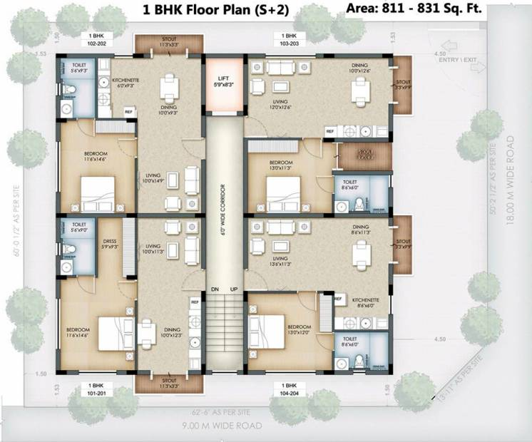 Images for Cluster Plan of Serene Hub Apartments