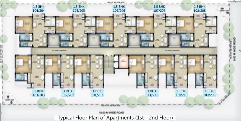 1 2 Bhk Cluster Plan Image Serene Senior Living Hub