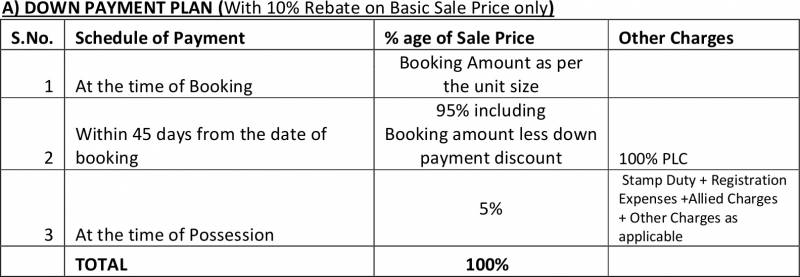 Images for Payment Plan of Ansal Orchid Garden