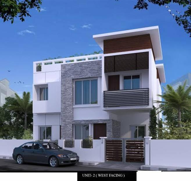 Front Elevation Of 120 Yards Houses : Main elevation image of mgp shails villa unit available