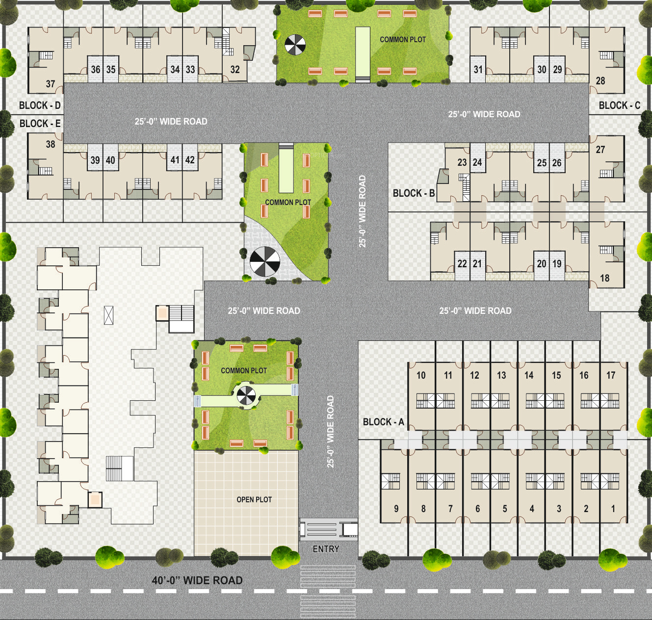 Charoliya roop apartments in vatva ahmedabad price for Apartment master plans
