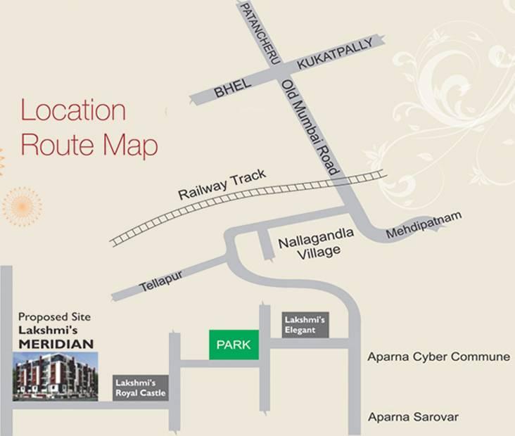 Images for Location Plan of Lakshmi Meridian