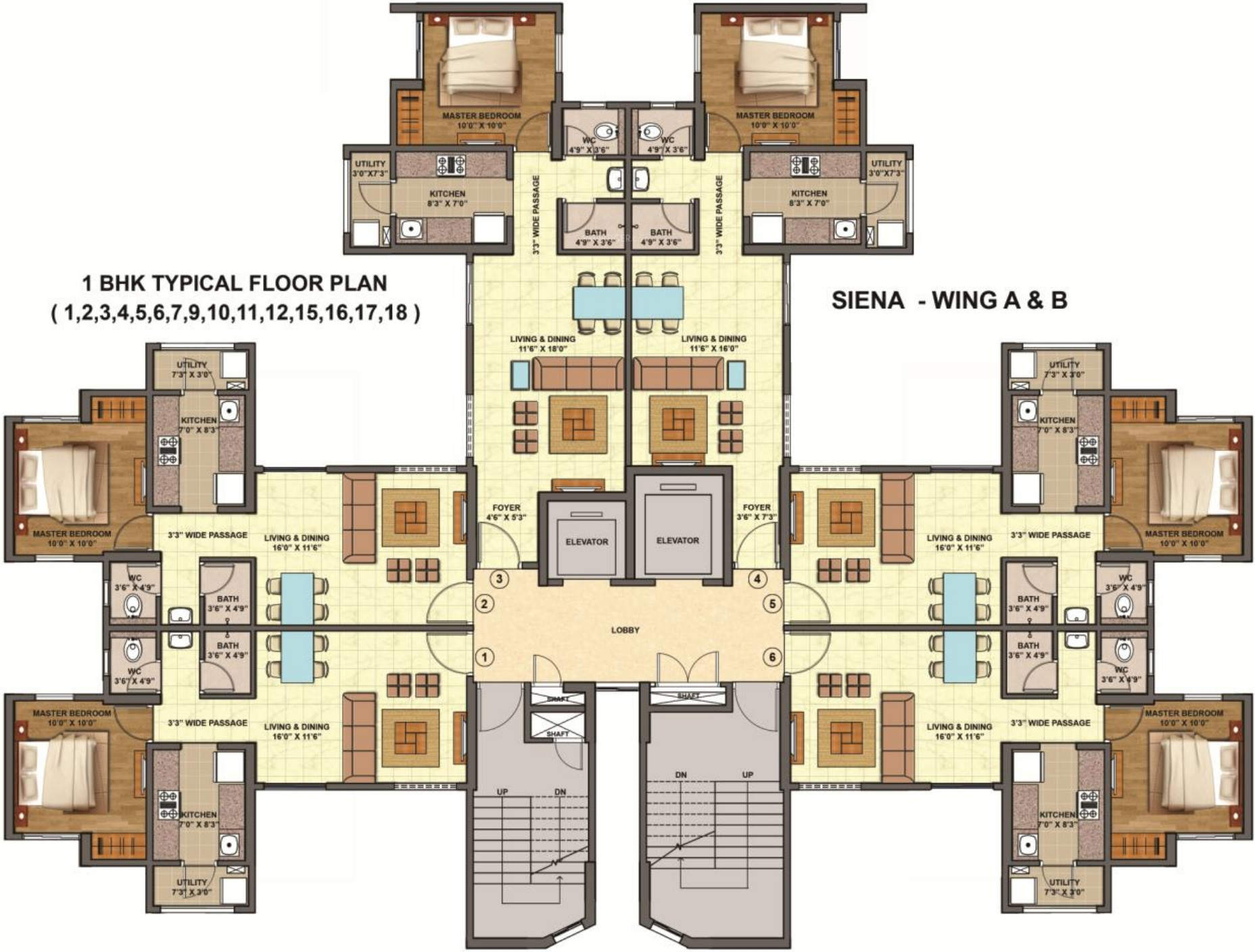 540 Sq Ft 1 Bhk 1t Apartment For Sale In Lodha Group