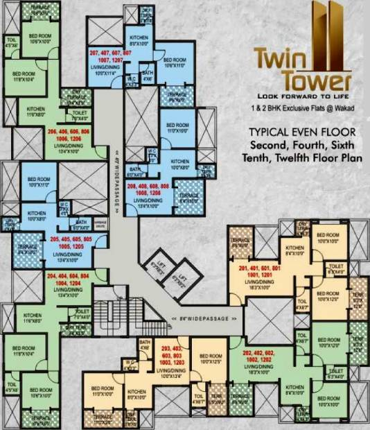 twin-towers Images for Cluster Plan of Shraddha Twin Towers