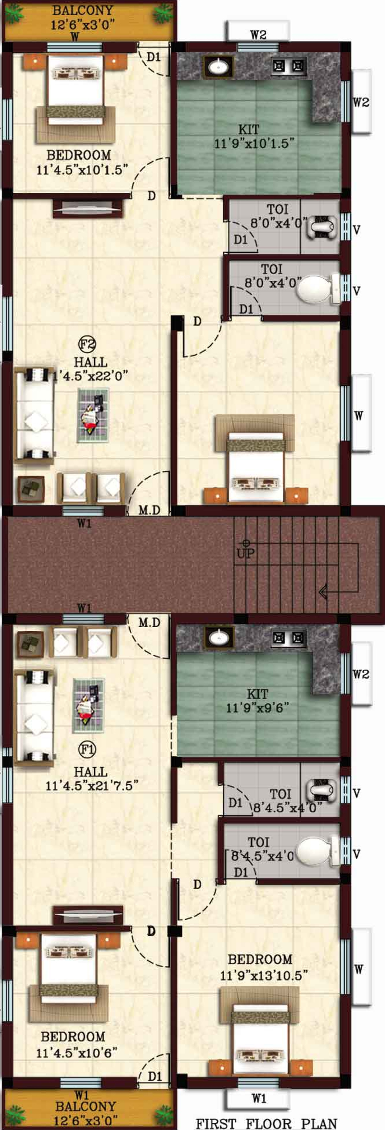 950 sq ft 2 bhk 2t apartment for sale in sri givi for 950 sq ft