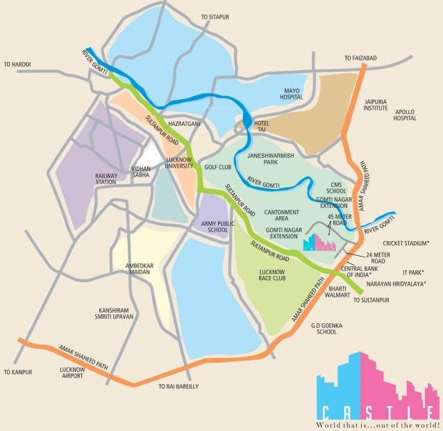 Images for Location Plan of Suraj Infra Ventures Oranje Castle