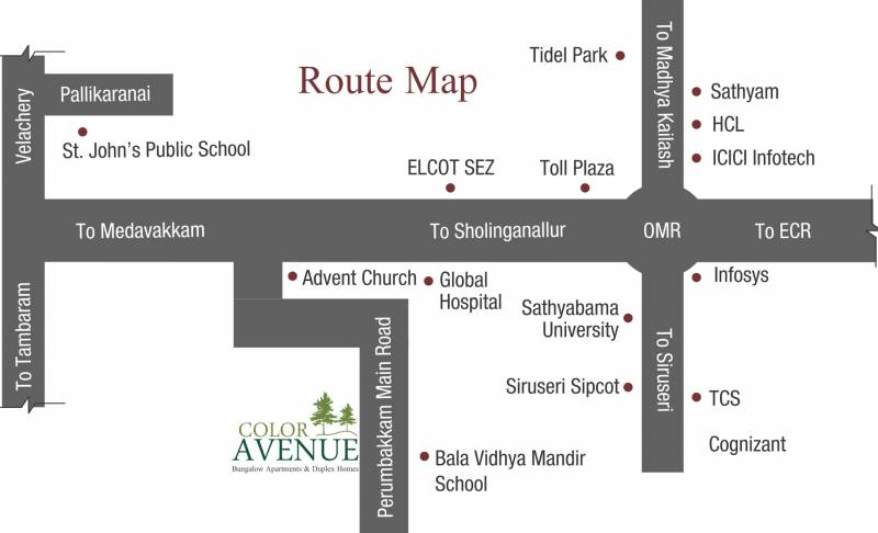avenue Images for Location Plan of Colorhomes Avenue