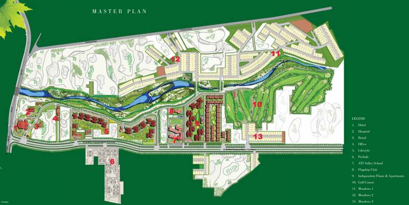 Images for Master Plan of ATS Golf Meadows Villas