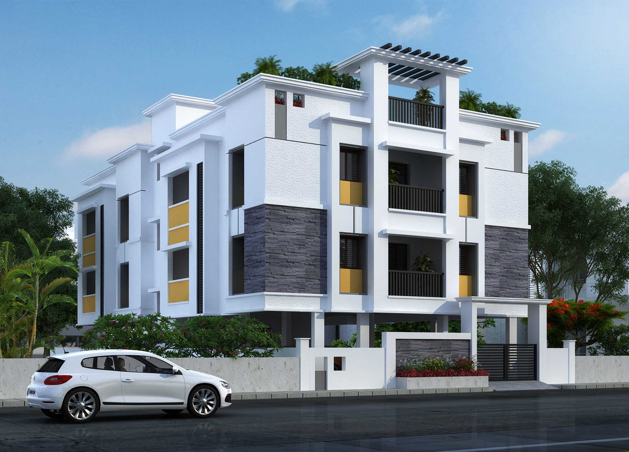 Wood Elevation Jersey : Sq ft bhk t apartment for sale in gayatri
