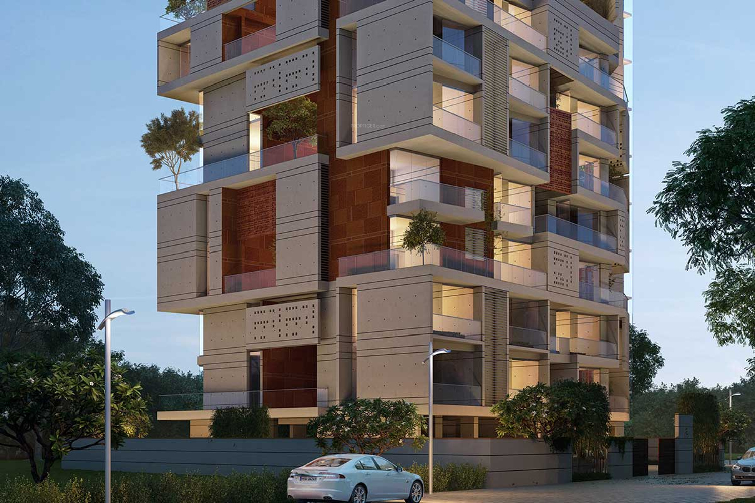 Wood Elevation Ymca : Asten aurum woods in panampilly nagar kochi price