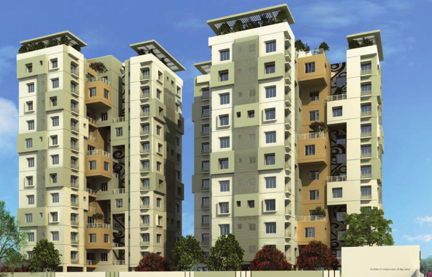 Eden sky terrace in nayabad kolkata price location map for Terrace elevation