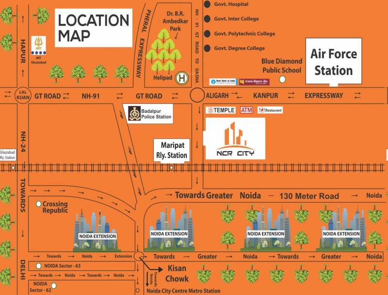 Image Of Location Map Of Himalaya Ncr City Achheja Greater Noida