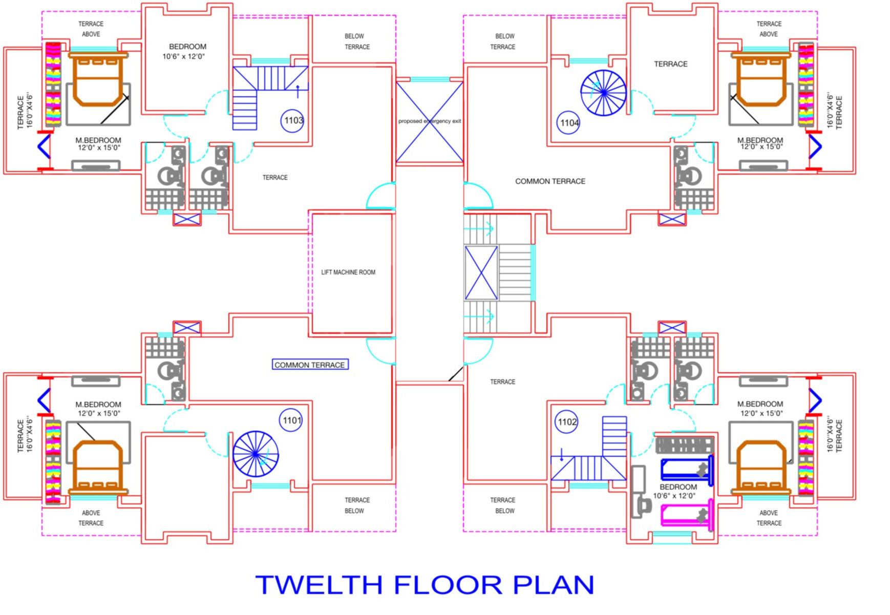 Foyer City Floor Plan : Sq ft bhk t apartment for sale in m y construction