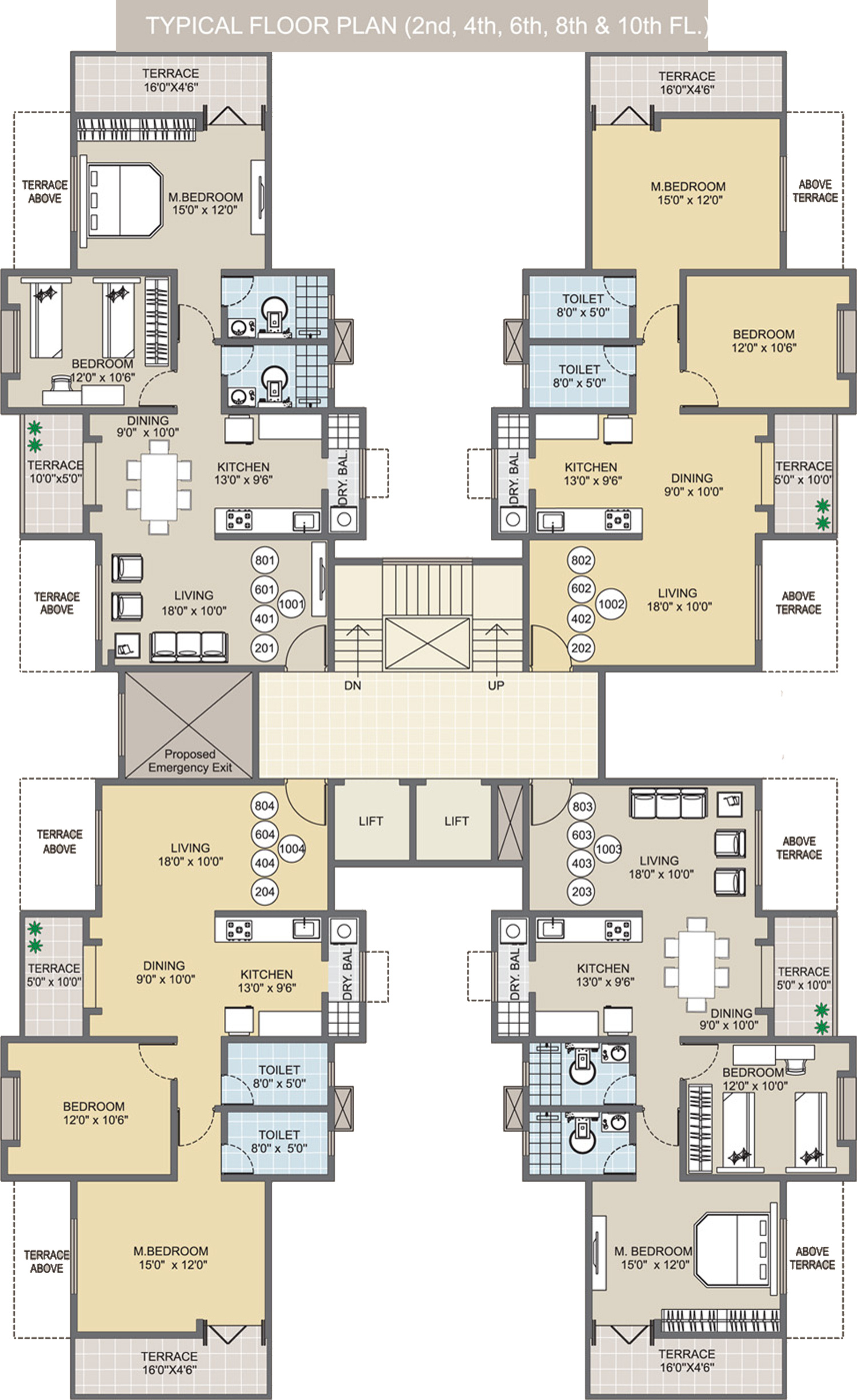 Foyer Plan Qatar : Sq ft bhk t apartment for sale in m y construction