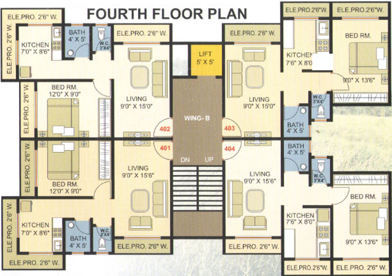 640 sq ft 1 bhk 1t apartment for sale in vedant builders for 640 square feet floor plan