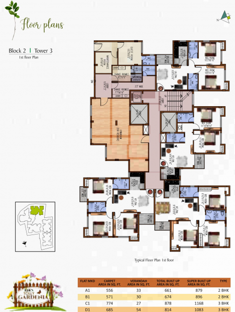 Images for Cluster Plan of Eden Tolly Gardenia
