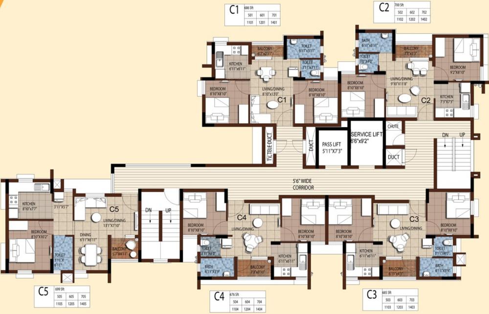 685 sq ft 2 bhk 1t apartment for sale in akshaya homes tango compact homes thoraipakkam omr chennai - Compact homes chennai ...