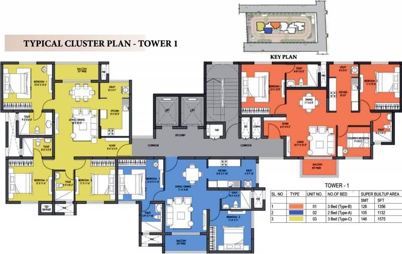 Images for Cluster Plan of Prestige Fontaine Bleau