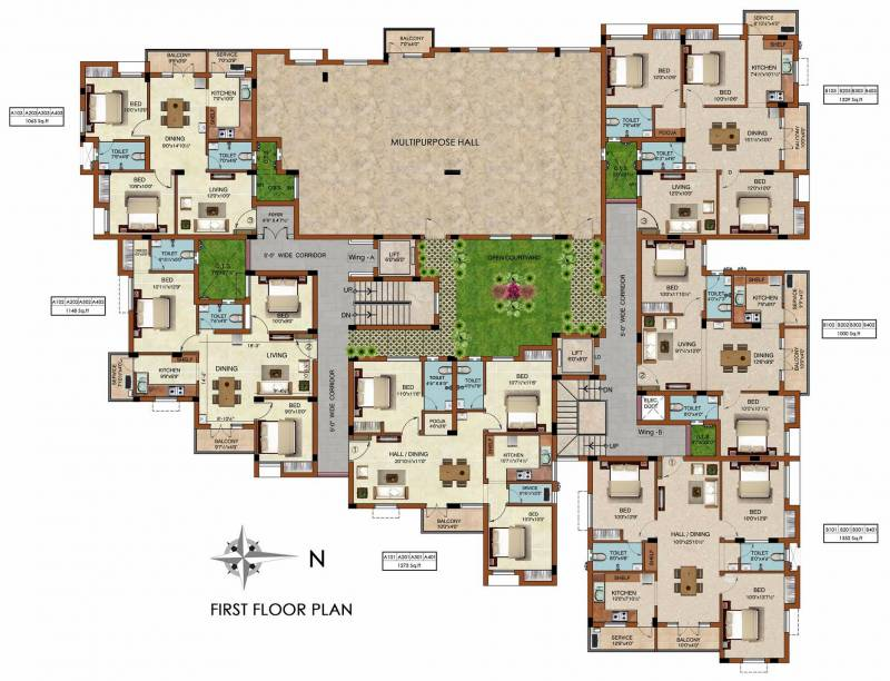Images for Cluster Plan of Raunaq The Courtyard