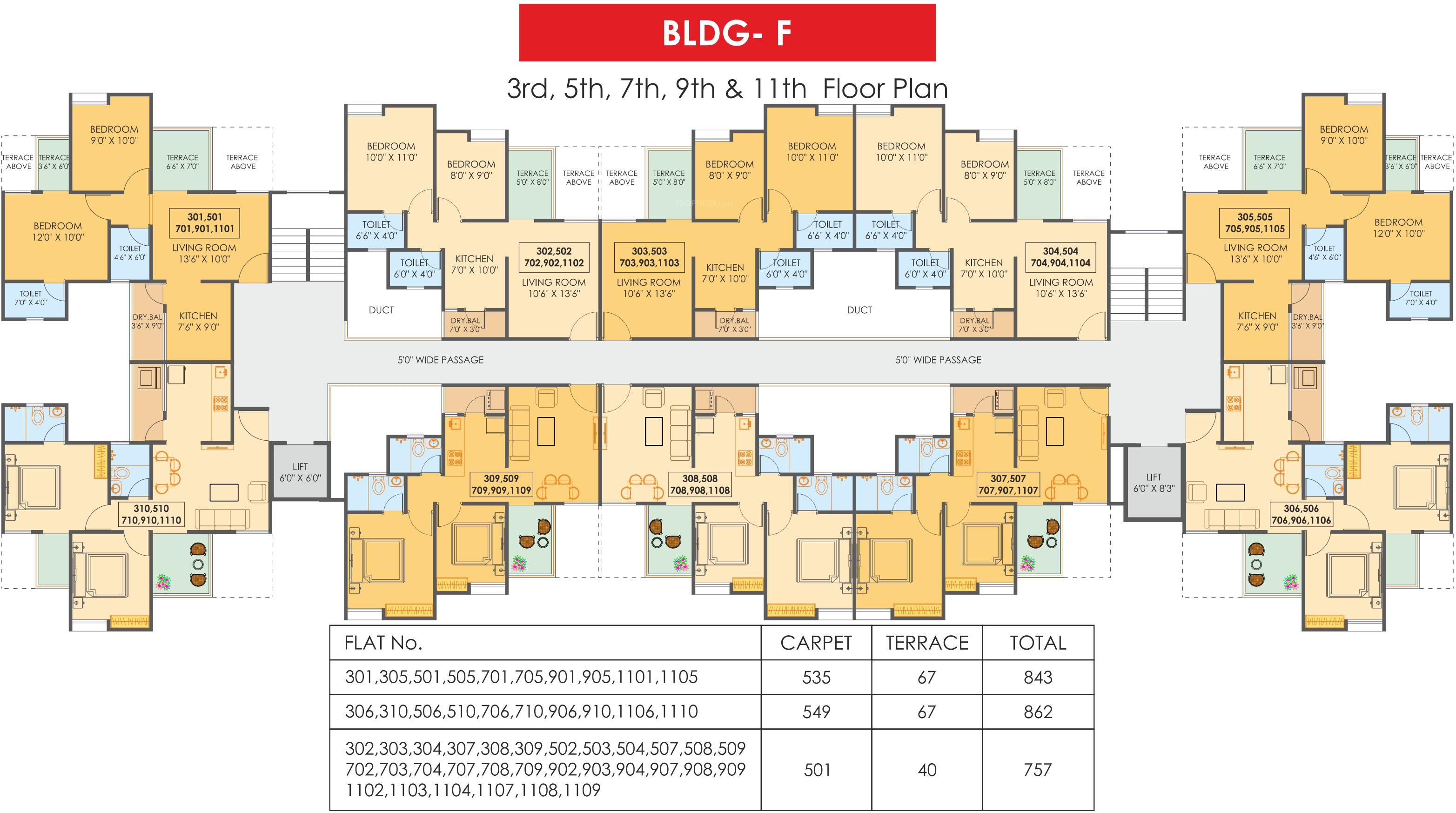 505 sq ft 1 bhk 1t apartment for sale in maple aapla ghar for Ghar plans design