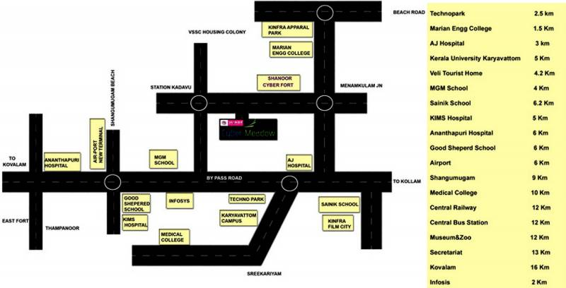 cyber-meadows Location Plan