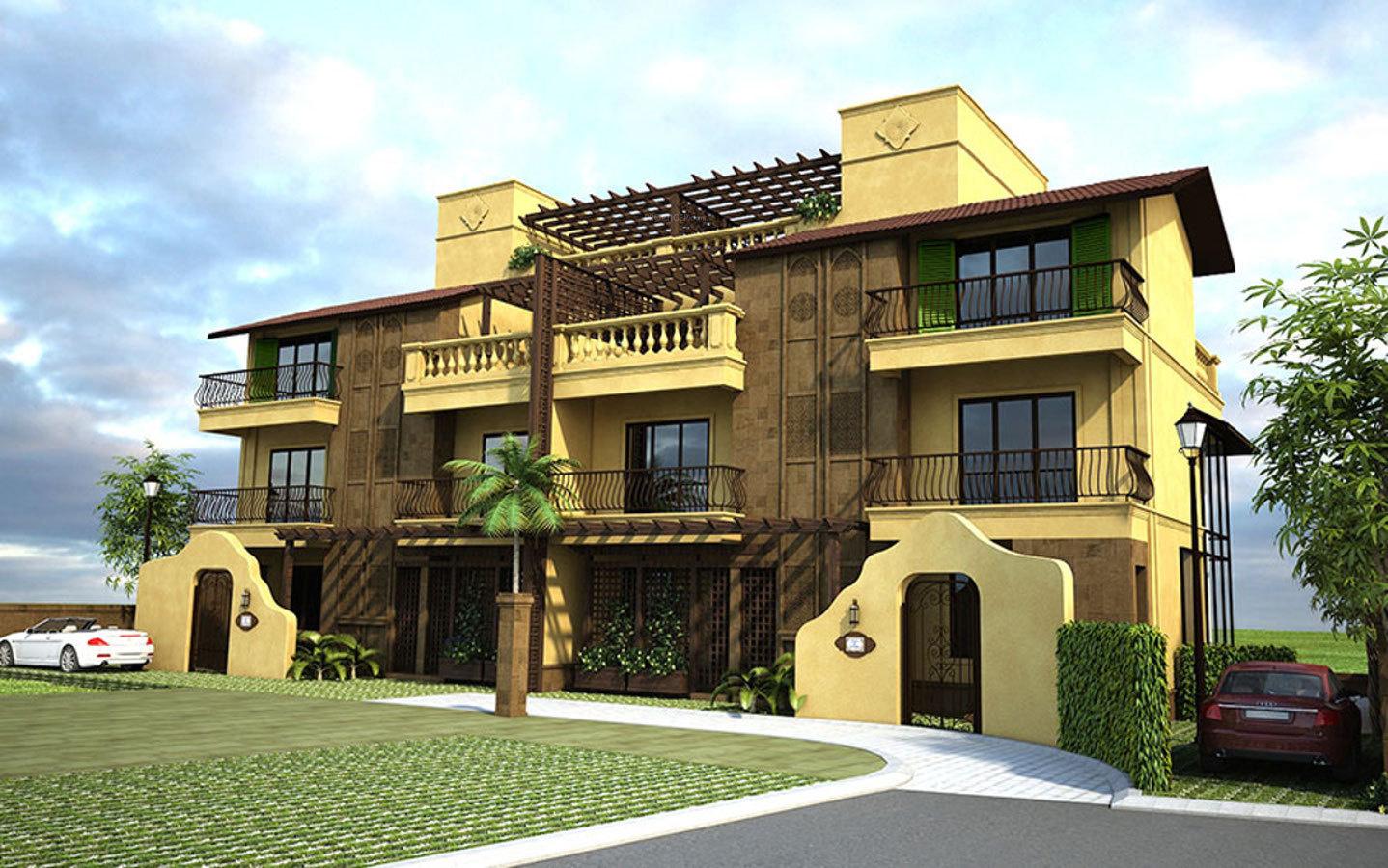 Main elevation image 4 of palacio hacienda homes unit for Hacienda home builders