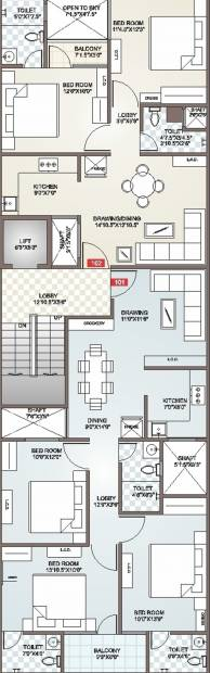 Images for Cluster Plan of Icarus Usha Residency