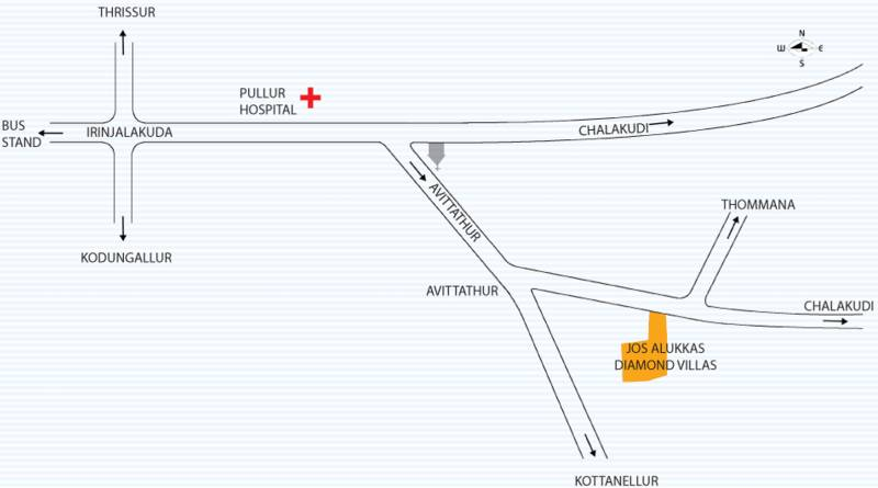 Image of Location Map of Jos Alukkas Diamond Villas