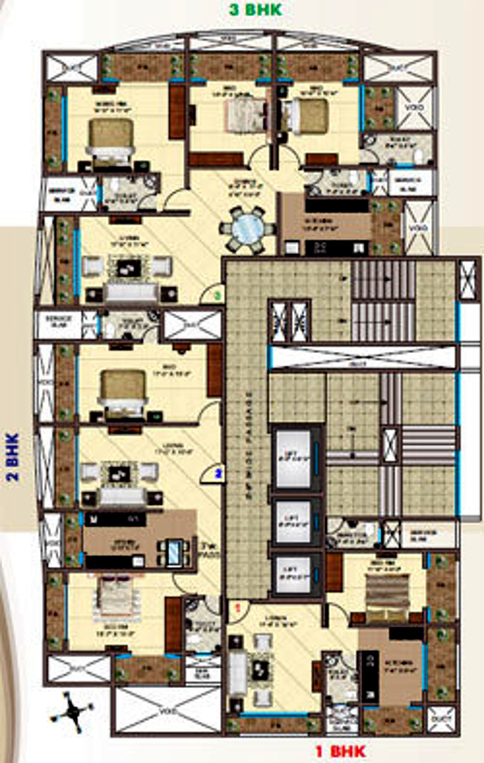 750 Sq Ft 1 Bhk 1t Apartment For Sale In Reputed Builder
