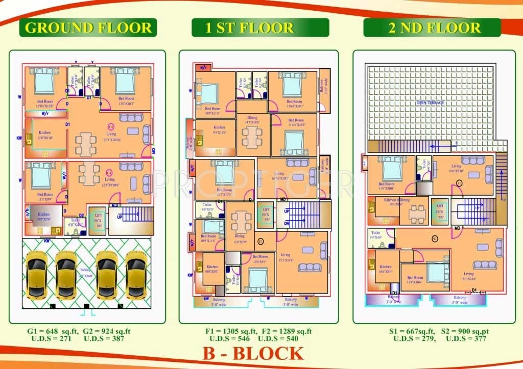 1324 sq ft 3 bhk 2t apartment for sale in sri santhi for Apartment plans chennai