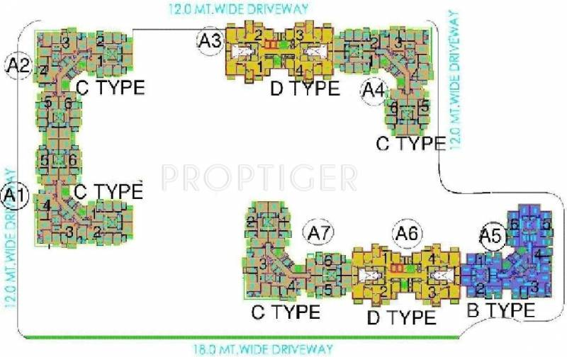 Images for Cluster Plan of DLF Westend Heights New Town