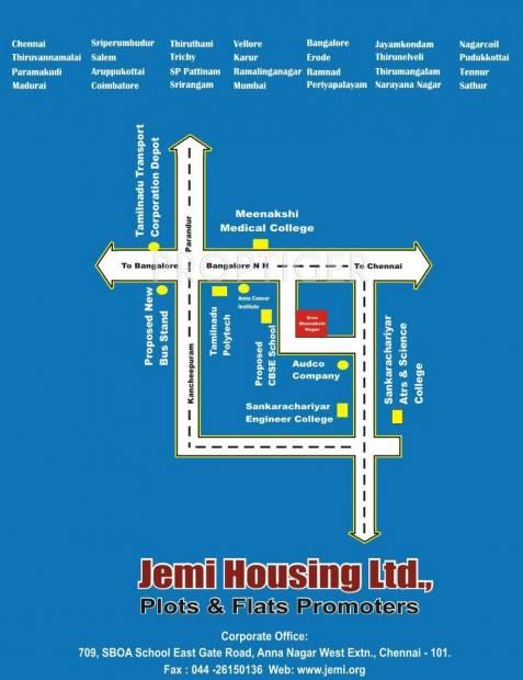 Jemi Housing Ltd Sree Meenakshi Nagar Plot Location Plan