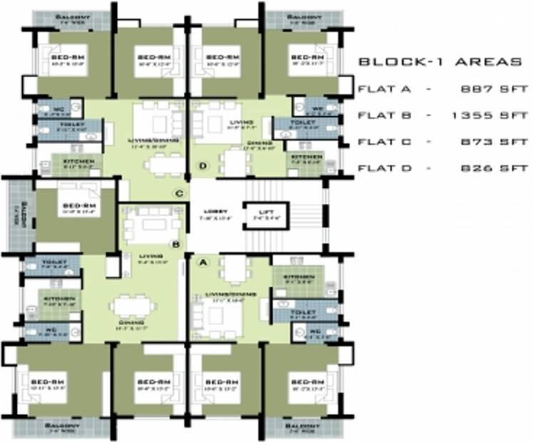 Images for Cluster Plan of Somani Sai Residency