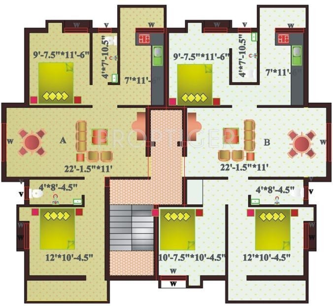 1230 Sq Ft 3 Bhk 2t Apartment For Sale In Sree Homes Alaya