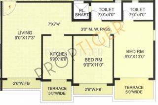925 Sq Ft 2 Bhk 2t Apartment For Sale In Hi Tech Ultra The