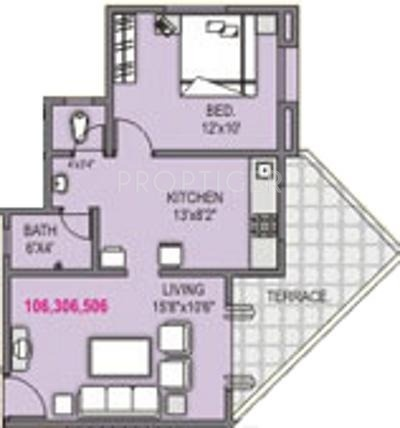 Shah And Associates Le Rayon (1BHK+2T (606 sq ft) 606 sq ft)