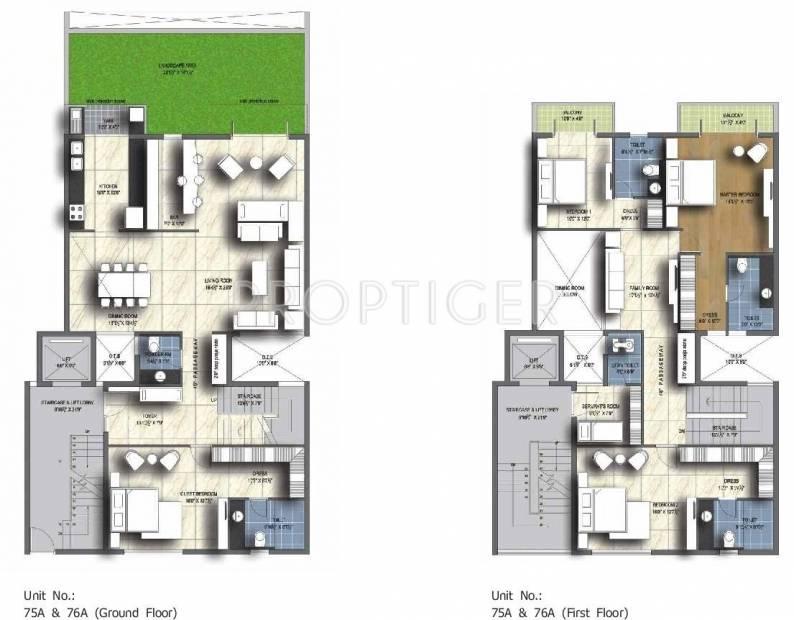 Unitech Resorts (4BHK+4T (3,599 sq ft) 3599 sq ft)
