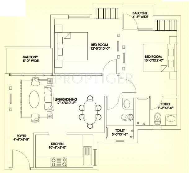 950 sq ft 2 bhk 2t apartment for sale in aashiana group for 950 sq ft