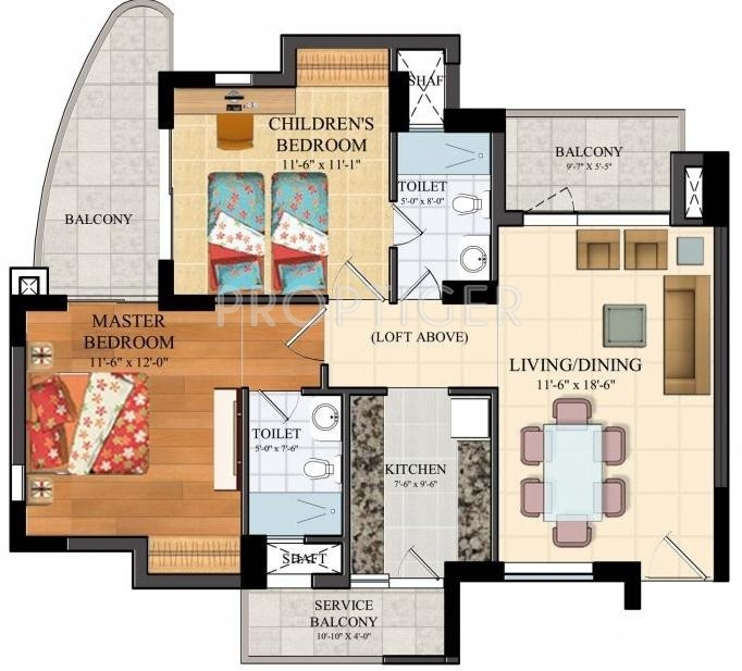 1050 sq ft 2 bhk 2t apartment for sale in assotech the for 1050 sq ft floor plans