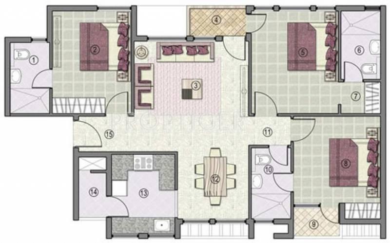 Jaypee Kensington Park Apartments (3BHK+3T (1,450 sq ft) 1450 sq ft)