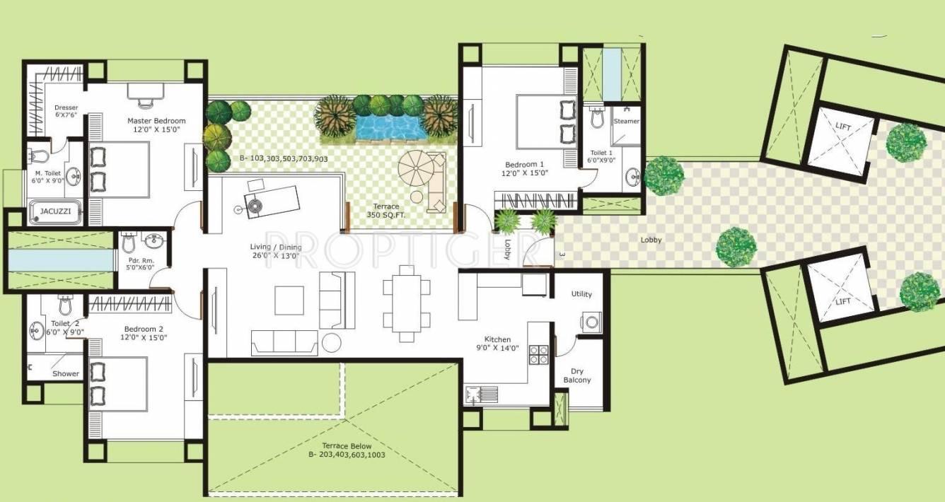 3180 sq ft 3 bhk 3t apartment for sale in marvel realtors for Floor plans for realtors