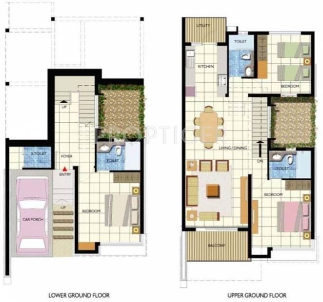 Umiya Seascapes Row Villas (3BHK+3T (1,800 sq ft) 1800 sq ft)