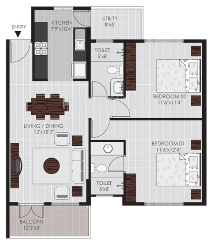 1050 sq ft 2 bhk 2t apartment for sale in sycon cressida for 1050 sq ft floor plans