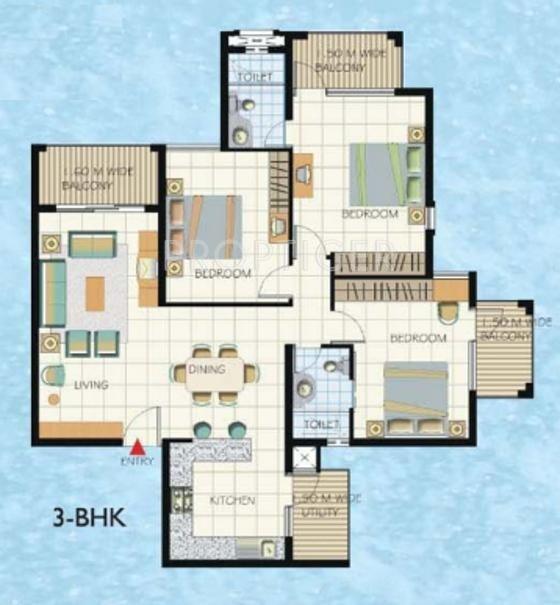 Umiya Solicitude (3BHK+2T (1,528 sq ft) 1528 sq ft)