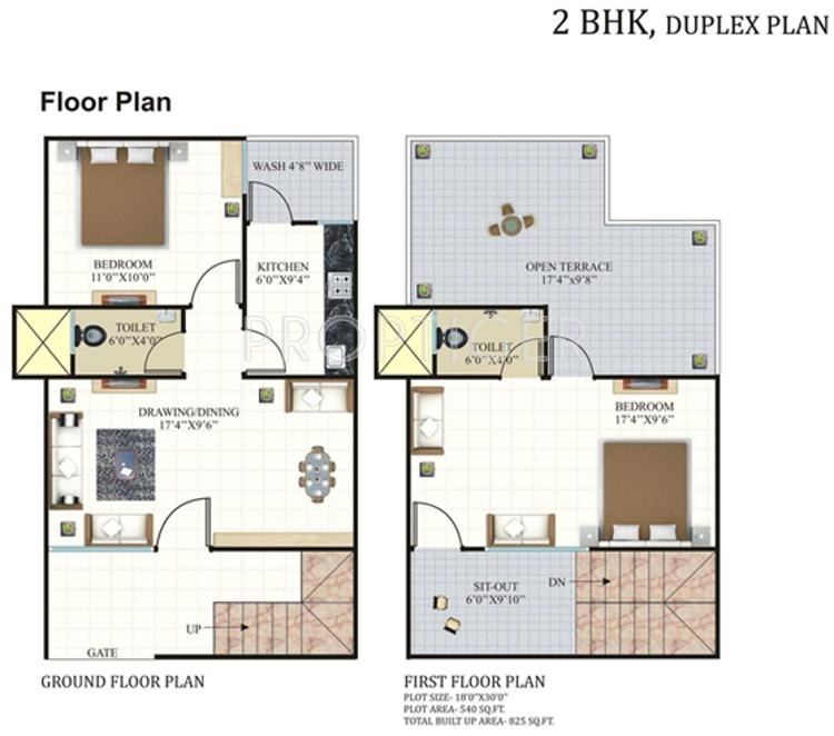 825 sq ft 2 bhk 2t villa for sale in rai homes india for Two bhk home plans